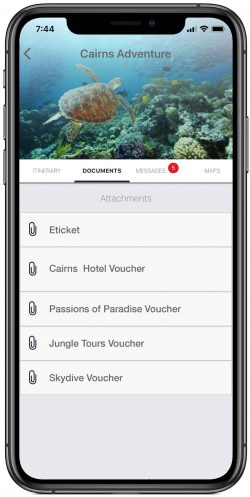 All your travel documents and vouchers in one place.